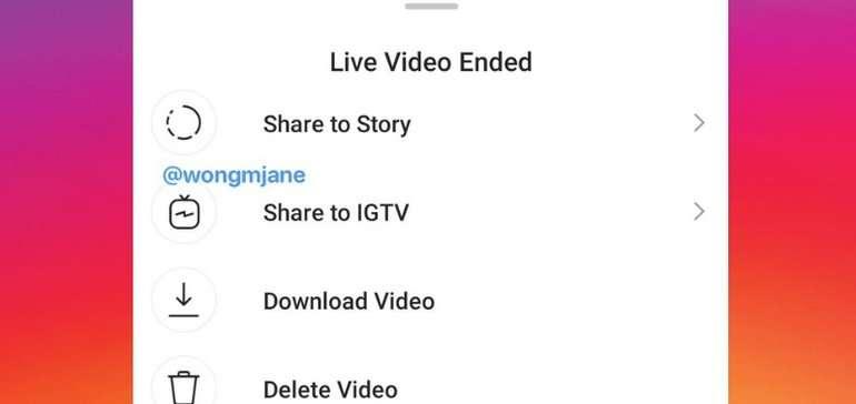 IGTV transmissão ao vivo